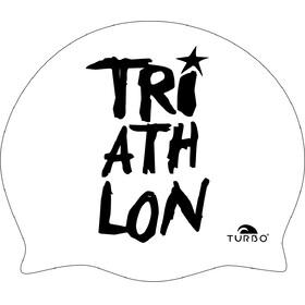 Turbo Triathlon Czepek pływacki biały